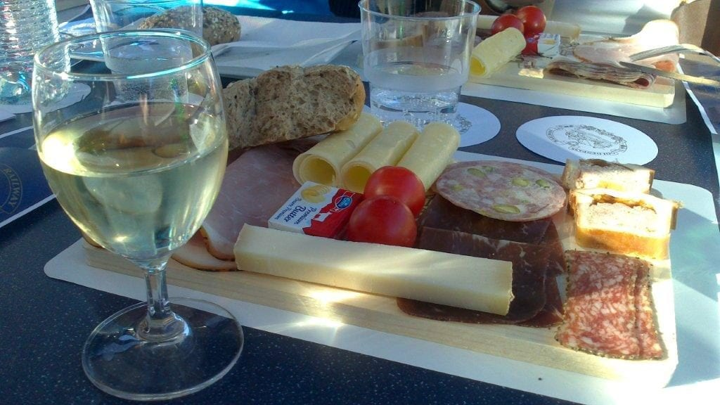 Cheese Platter on Bernina Express Train in Switzerland